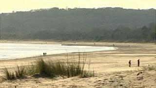 Swansea Bay beach on Sunday