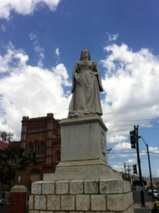 Queen Victoria's statue in Kingston