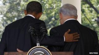 US President Barack Obama (left) and Israeli PM Benjamin Netanyahu. File photo