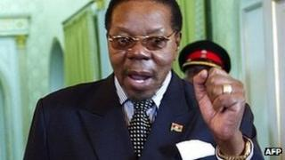 Malawi's President Bingu wa Mutharika photographed on 18 July 2011