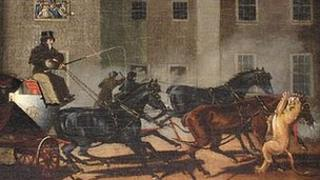 The Lioness Attacking the Horse of the Exeter Mail coach, near Salisbury