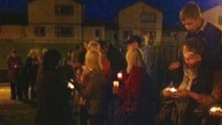 Candlelit vigil for Andrew Allen