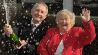 George Keates with wife Beryl
