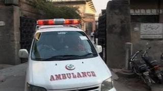 Ambulance hospital in Lahore after post-mortem examination