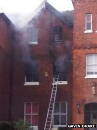 Cathedral School fire (Gavin Drake)