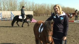 Gemma Taylor with pony Star