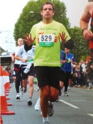Jon Lawrence running