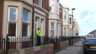Newcastle murder scene