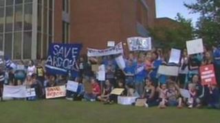 School protesters last summer