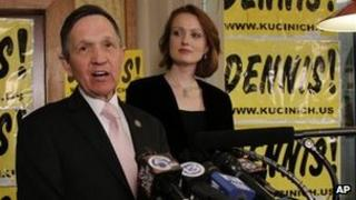 Representative Dennis Kucinich concedes in a speech, Cleveland, Ohio 6 March 2012