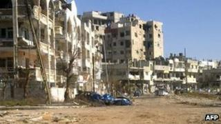 Bombed out neighbourhood of Homs - 5 March