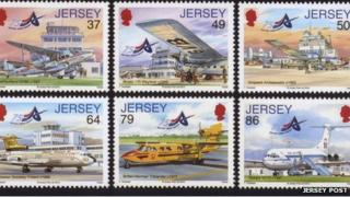Jersey Airport stamps