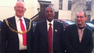 Lord Mayor of Bristol, Musa Bihi and Stephen Williams