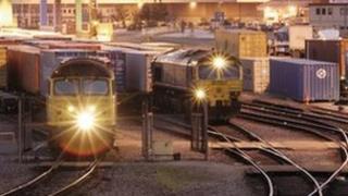 Port of Felixstowe rail freight terminal
