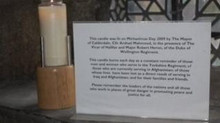 Candle in Halifax Minster