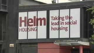 Helm Housing sign