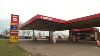 Car Colston filling station