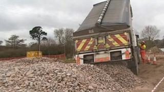 Hemerdon link road construction