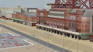 Blackpool promenade graphic