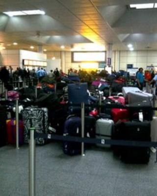 Luggage backlog at Gatwick