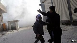 Clashes in Idlib, northern Syria. 10 March 2012