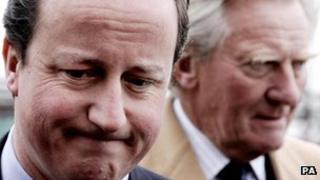 Lord Heseltine and David Cameron
