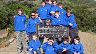 The choir on tour in South Africa