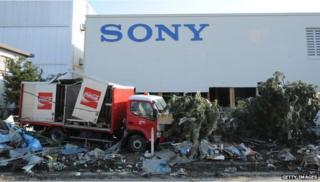 Sony factory in Japan