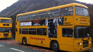 School buses in Llanfairfechan, Conwy