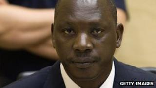 Congolese warlord Thomas Lubanga sits in the courtroom of the International Criminal Court in the Hague on 25 August 2011
