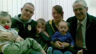 The Beswick family with Len Curtis