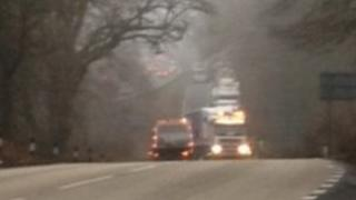 A31 scene of lorry crash