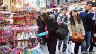 Shoppers in Seoul