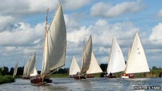 Hunter's Yard cabin yachts on the Norfolk Broads
