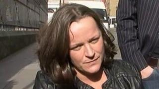 Martine Wright outside the 7/7 inquest