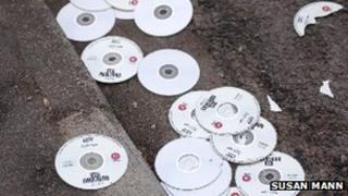 DVDs in street
