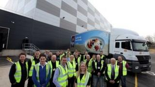 The Peterlee Regional Distribution Centre and some of its 400 staff
