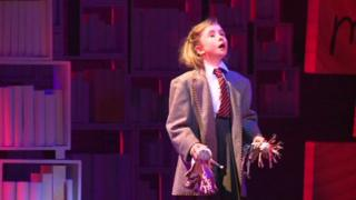 Matilda from a scene in the musical
