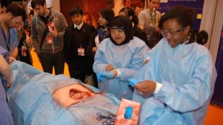Children do simulated operation