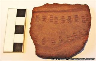 Neolithic pottery shred. Pic: Ross and Cromarty Archaeological Services