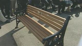 The bench on Saltburn promenade