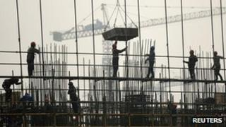 A residential construction site in Hefei, Anhui, eastern China, 6 March 2012