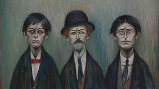Father and Two Sons, LS Lowry 1950
