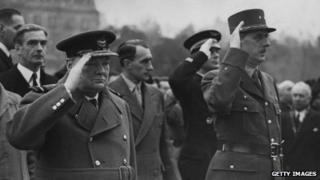 Churchill and De Gaulle
