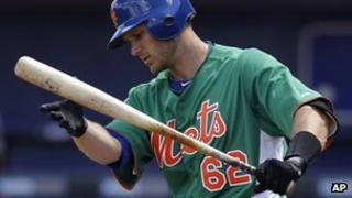 Mets player Lucas May during spring training in Florida