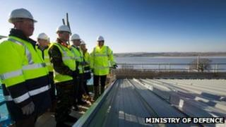 Topping out ceremony at CTCRM, Lympstone