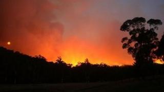 File photo of 2009 bushfires