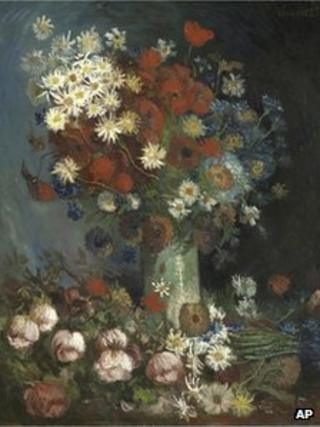 Still Life with Meadow Flowers and Roses