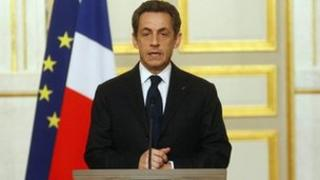 French President Nicolas Sarkozy at the Elysee Palace (21 March 2012)