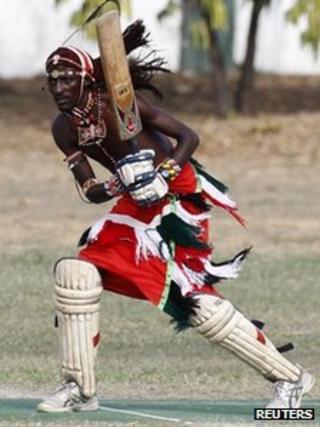 Maasai warrior batsman
